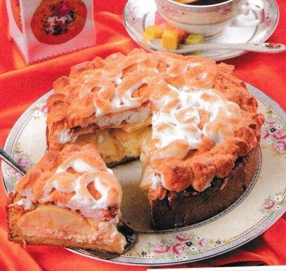 Рождественский пирог, рецепт с творогом и яблоками