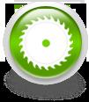 Зеленая иконка для сайта - пильный диск