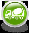 Зеленая иконка для сайта - бетономешалка