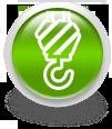Зеленая иконка для сайта - подъемный кран
