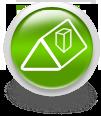 Зеленая иконка для сайта - крыша