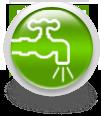 Зеленая иконка для сайта - кран