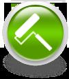 Зеленая иконка для сайта - малярный валик