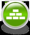 Зеленая иконка для сайта - кирпичи