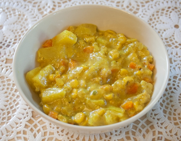 Овощи тушеные в сливках, рецепт