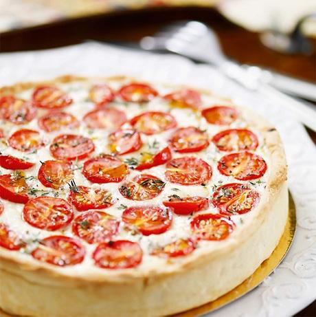 Рецепт: Пирог с помидорами черри
