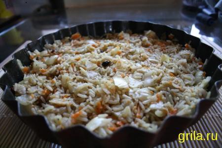 Рецепт: Рис с рыбой в аэрогриле