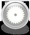 Серая иконка для сайта - пильный диск