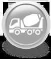 Серая иконка для сайта - бетономешалка
