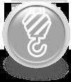 Серая иконка для сайта - подъемный кран