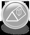 Серая иконка для сайта - крыша