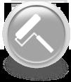 Серая иконка для сайта - малярный валик