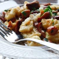 Рецепт: Клецки картофельные с грибами