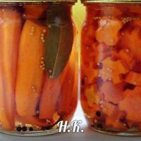 Маринованная закусочная морковка